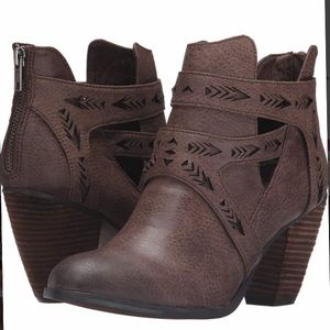 Enzo Laser Cutout Bootie NOT RATED